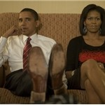US President Barack Obama posts election night photos on Flickr