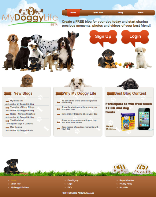My Doggy Life website