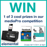 WIN awesome prizes with Elemental's bumper mediaPro competition