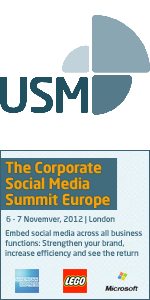 Useful Social Media logo and The Corporate Social Media Summit Europe 2012 banner
