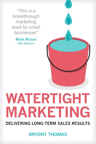 Watertight Marketing book cover image