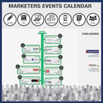 Marketers Events Calendar infographic lists UK conferences in 2013