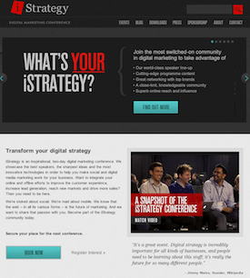 iStrategy Conference website image