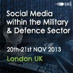 SMi Group Social Media within the Military and the Defence Sector Europe banner