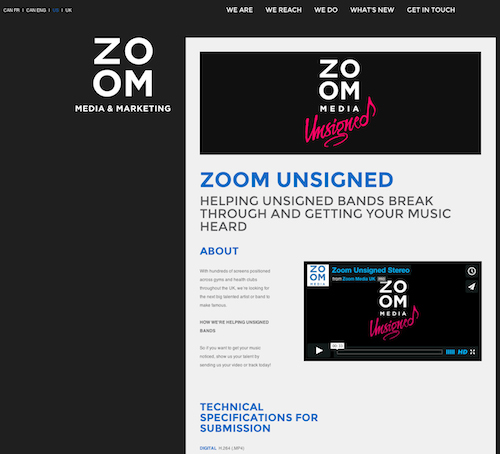 Hyperlink to Zoom Unsigned website