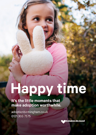 Birmingham City Council Little Moments adoption marketing campaign image