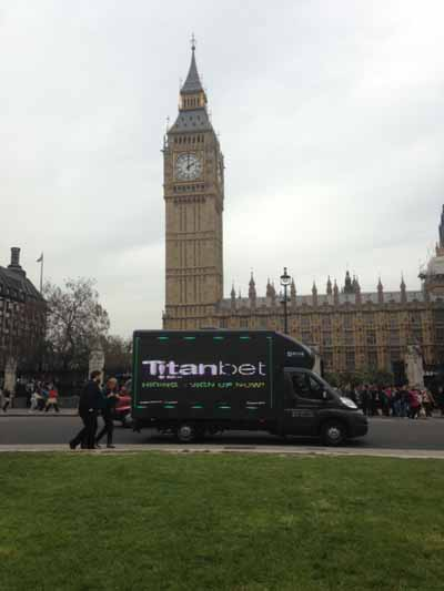 Hyperlink to Titan Bet digital van image