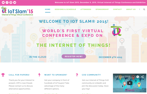 IoT Slam 2015 website image