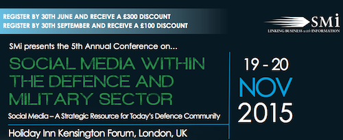 Social Media within the Defence and Military Sector banner