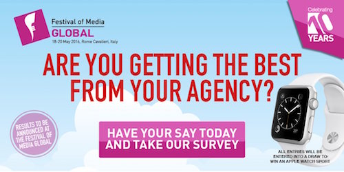 Festival of Media Global Agency Fortunes questionnaire image