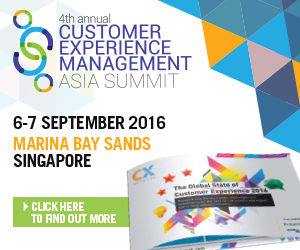 4th Customer Experience Management Asia Summit 2016 banner