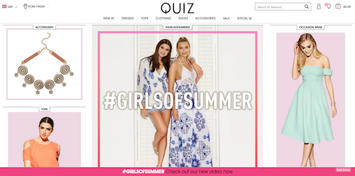 Profiled Amy Stewart From Quiz Clothing On Social Media And Fashion