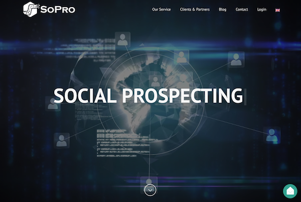 SoPro homepage image social prospecting