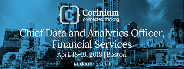 Chief Data & Analytics Officer, Financial Services 2018 banner