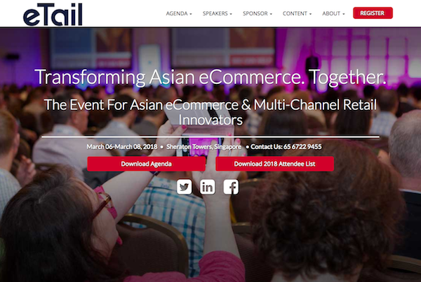 eTail Asia 2018 homepage image