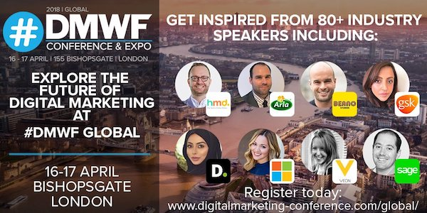 DMWF Expo Global – Digital Marketing World Forum London 2018 banner 600x300