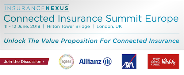3rd Annual Connected Insurance Summit Europe 2018 banner 600x246