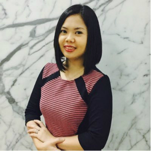 Photograph of Gladys Leah Caligagan from WBR Singapore Pte Ltd and Digital Travel APAC 2018