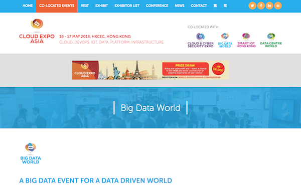 Big Data World, Hong Kong 2018 website image 600x403