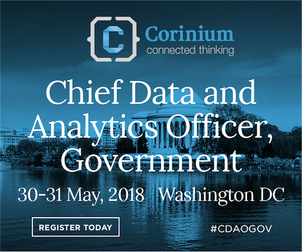 Chief Data & Analytics Officer, Government 2018 banner 600x500