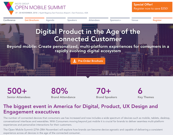 The Open Mobile Summit USA 2018 website image