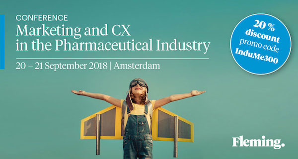 Marketing and CX in the Pharmaceutical Industry 2018 banner 600x328