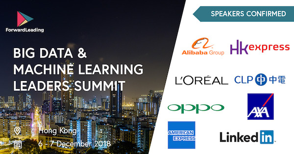 Big Data & Machine Learning Leaders Summit Hong Kong 2018 banner 600x314
