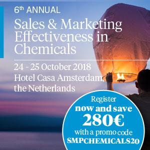 6th Annual Sales & Marketing Effectiveness in Chemicals 2018