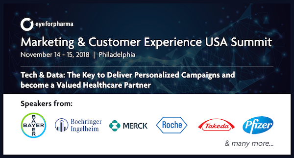 eyeforpharma's Marketing & Customer Experience USA 2018 banner 600x550
