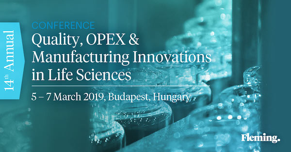 14th Annual Quality, OPEX & Manufacturing Innovations in Life Sciences Conference 2018  banner 600x315