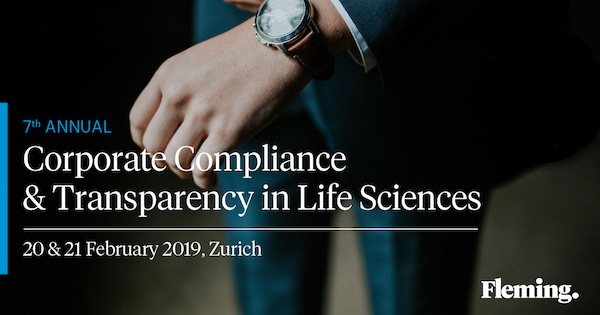 7th Annual Corporate Compliance and Transparency in Life Sciences 2018 banner 600x314