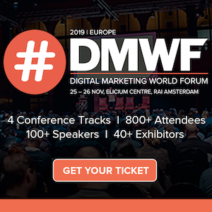 DMWF Europe 2019 – Digital Marketing World Forum – Amsterdam 2019 banner 300x300
