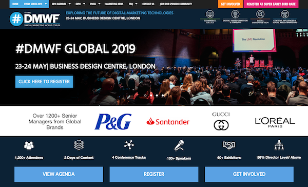 DMWF Global 2019 - Digital Marketing World Forum - London 2019 website image 600x