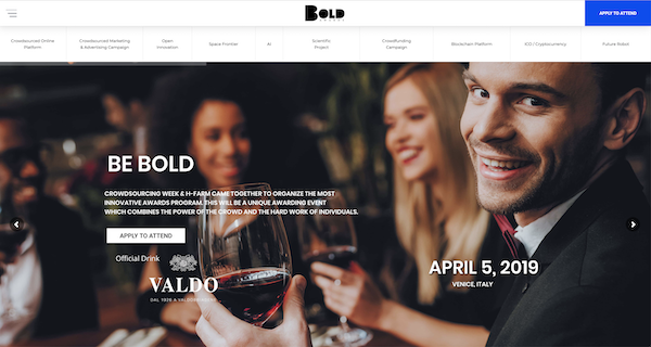 BOLD Awards website image