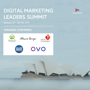 Digital Marketing Leaders Summit Sydney 2019 banner 300x300