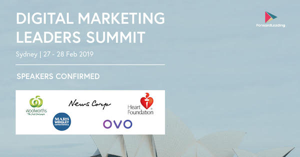 Digital Marketing Leaders Summit Sydney 2019 banner 600x314