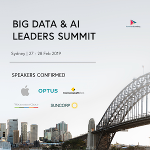 Big Data & AI Leaders Summit Sydney 2019 banner 300x300