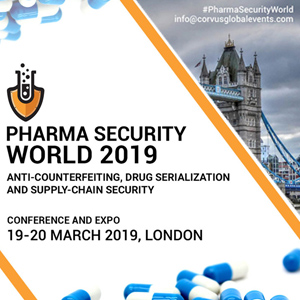 Corvus Global Events invites you to Pharma Security World 2019 – Supply-Chain, Drug Serialization and Anti-Counterfeiting Conference banner banner 300x300