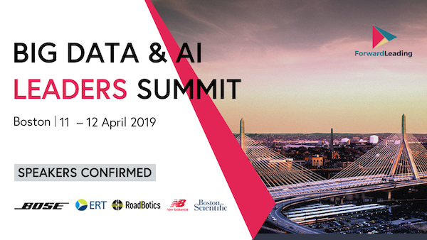 Big Data & AI Leaders Summit Boston 2019 banner 600x338