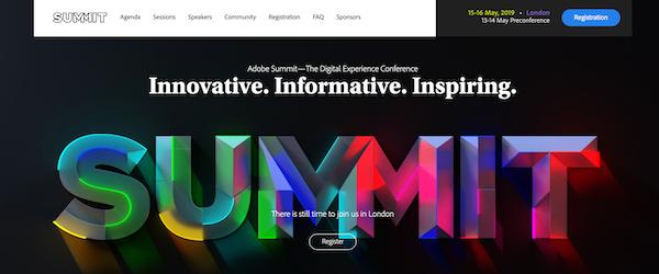 Adobe Summit EMEA website image