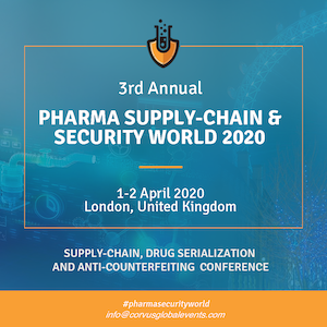 3rd Annual Pharma Supply-Chain & Security World 2020 banner 300x300