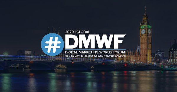 DMWF Global 2020 - Digital Marketing World Forum - London 2020 600x314 banner and logo