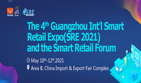 The 4th Guangzhou Int'l Smart Retail Expo (SRE 2021) banner 600x356